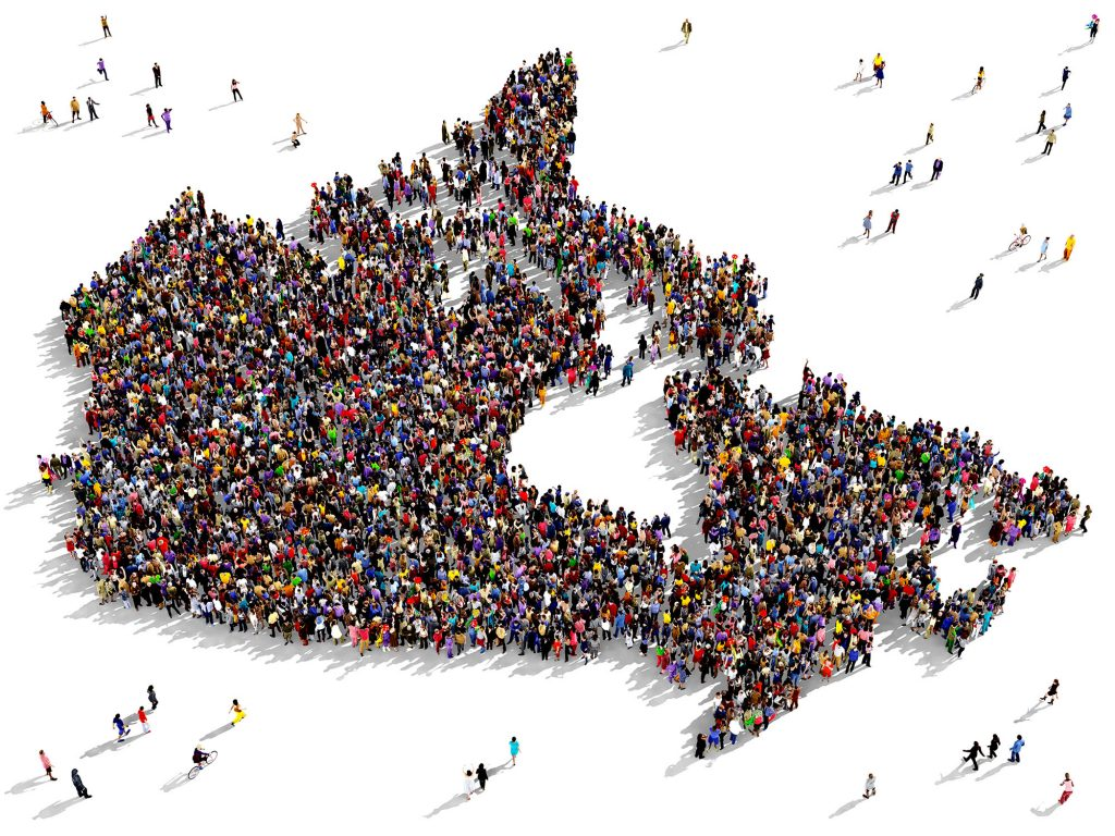 Canada Map of People