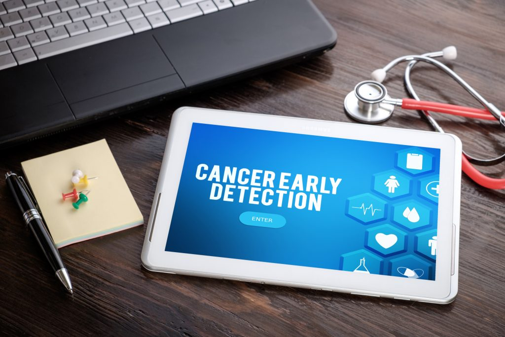 Cancer Early Detection (app on tablet)