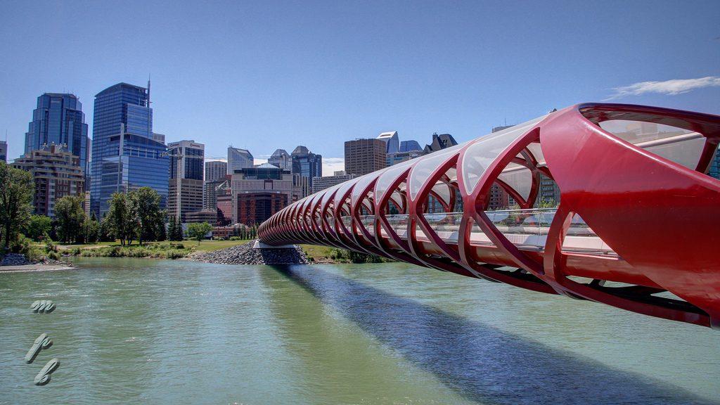 Calgary alberta Peace Bridge (daytime)